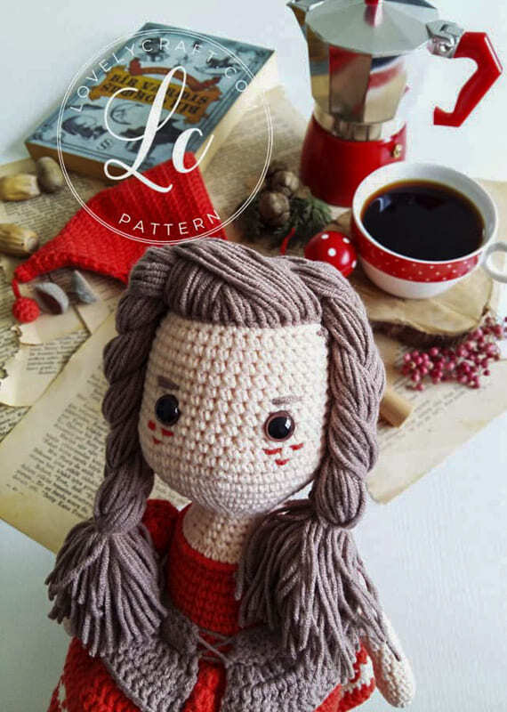 Crochet Little Red Riding Hood Amigurumi Free Pattern (4)