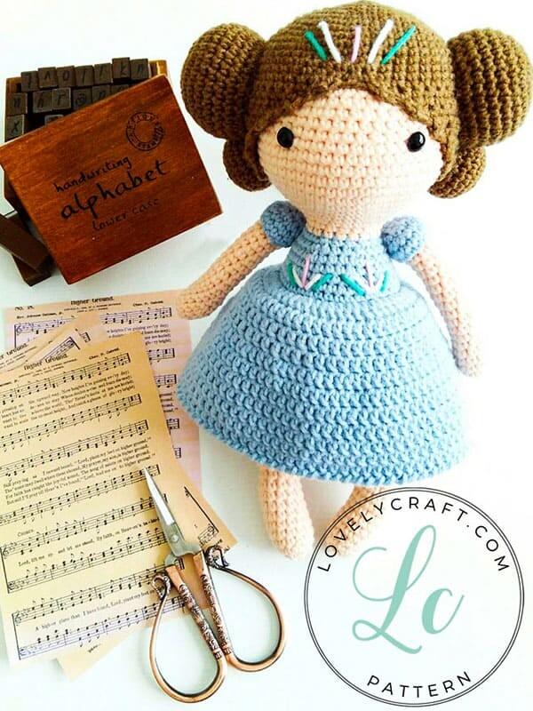 Crochet Maribel Doll Amigurumi Free Pattern (4)