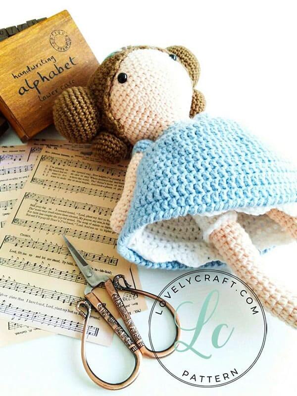 Crochet Maribel Doll Amigurumi Free Pattern (5)