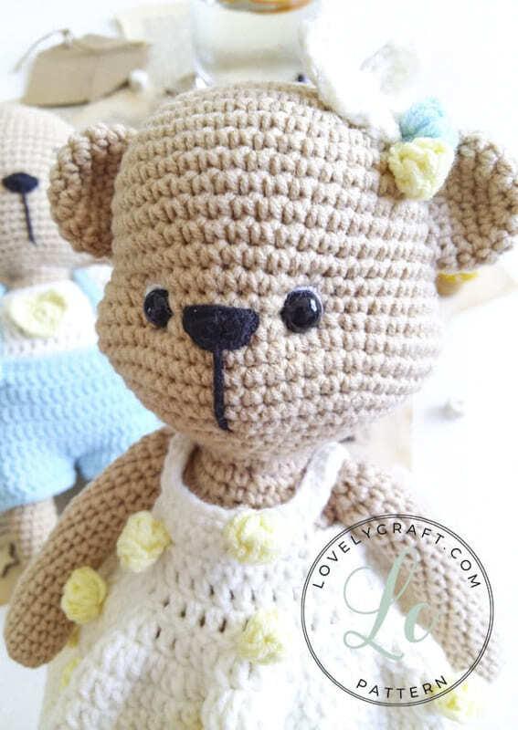 Crochet Mrs. Cookie Teddy Bear Amigurumi Free Pattern (2)
