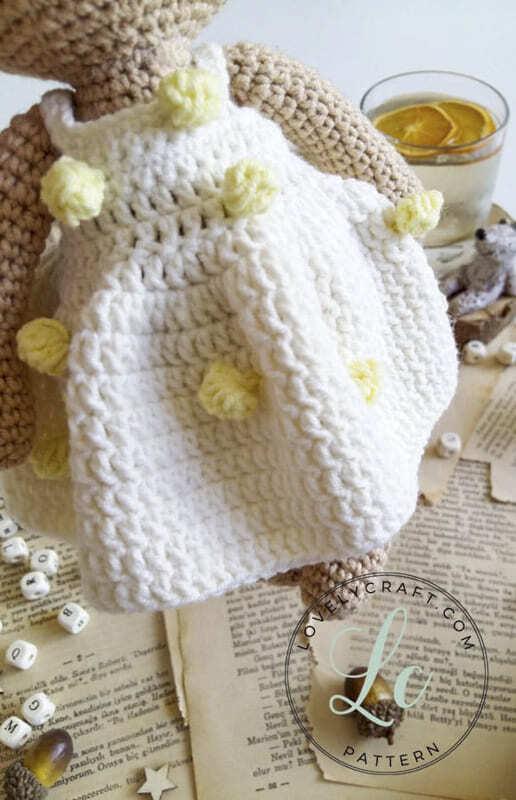 Crochet Mrs. Cookie Teddy Bear Amigurumi Free Pattern (3)
