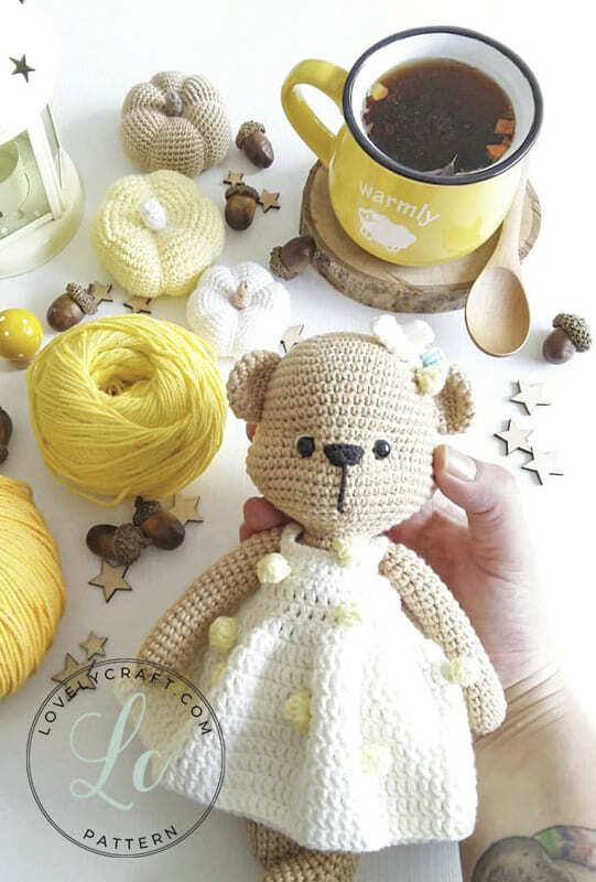 Crochet Mrs. Cookie Teddy Bear Amigurumi Free Pattern (4)