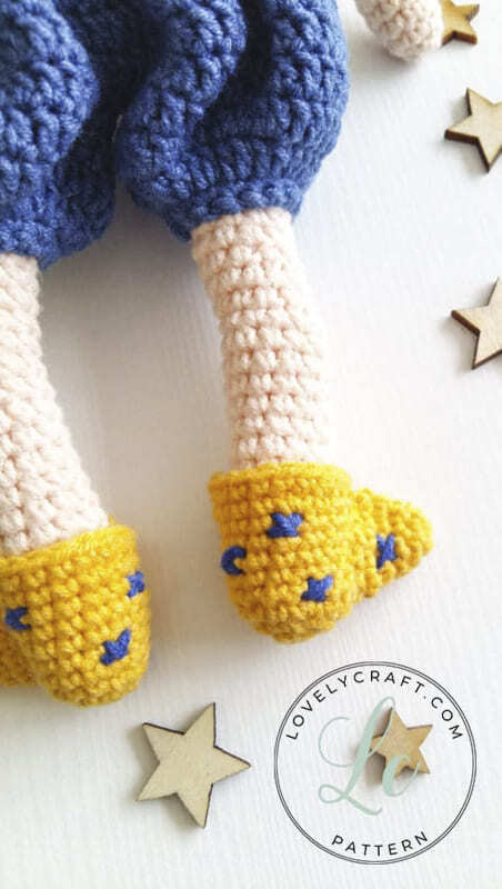 Crochet Night Boy Amigurumi Doll Free Pattern (4)