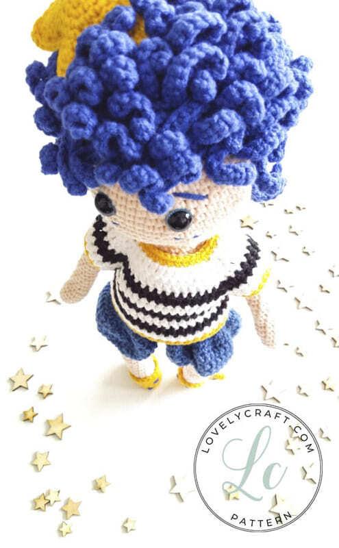 Crochet Night Boy Amigurumi Doll Free Pattern (6)