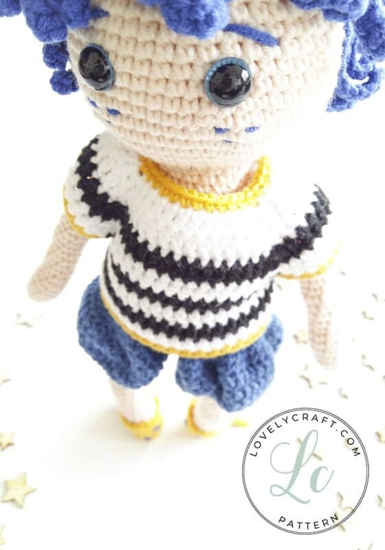 Crochet Night Boy Amigurumi Doll Free Pattern (7)