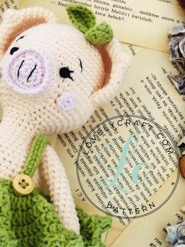 Crochet Pig Pixie Amigurumi Free Pattern (2)