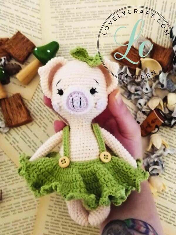 Crochet Pig Pixie Amigurumi Free Pattern (3)