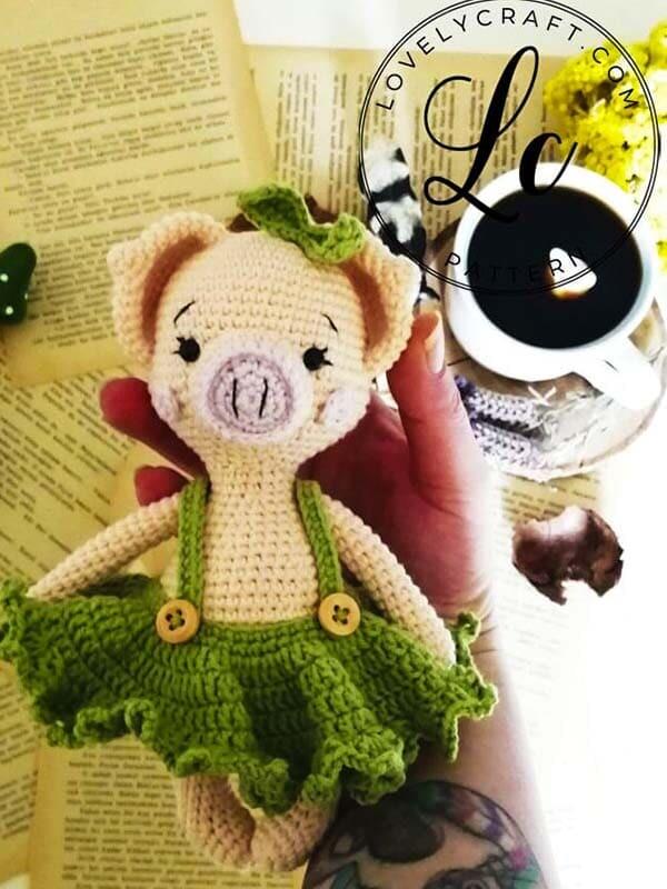 Crochet Pig Pixie Amigurumi Free Pattern (4)