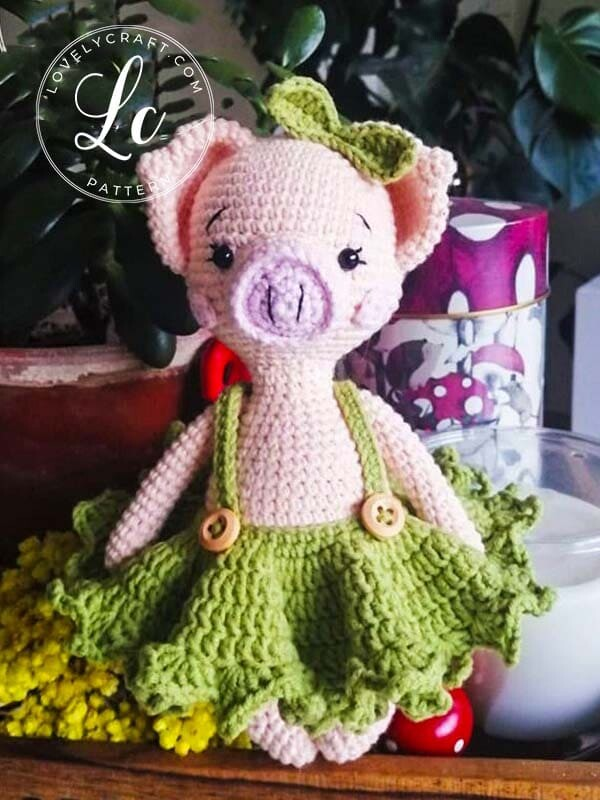 Crochet Pig Pixie Amigurumi Free Pattern (5)