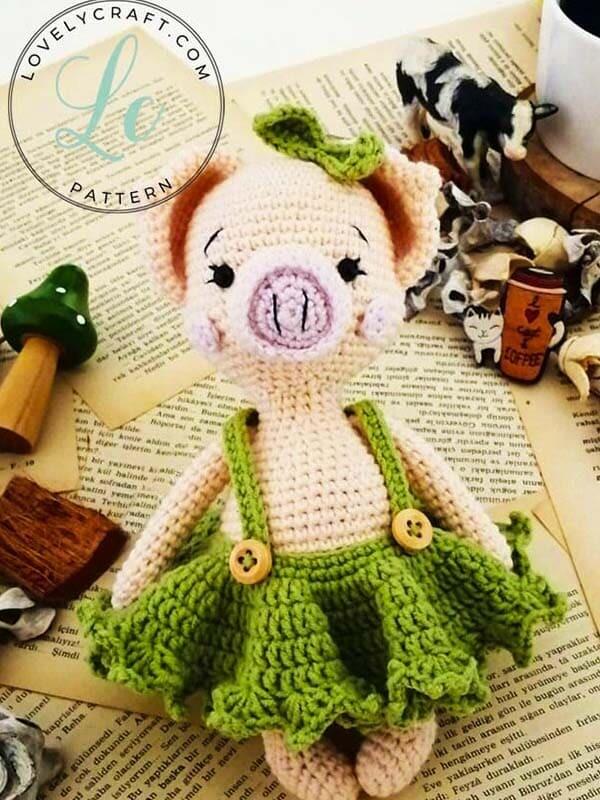 Crochet Pig Pixie Amigurumi Free Pattern (6)