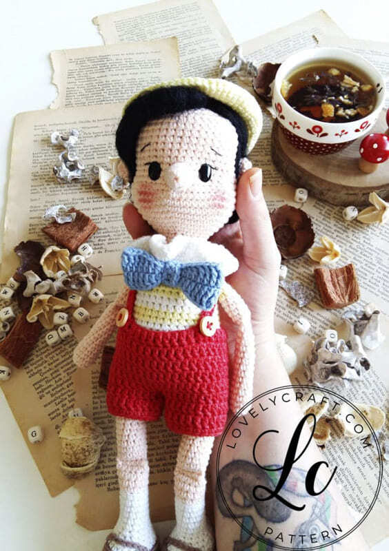 Crochet Pinocchio Amigurumi Doll Pattern (6)