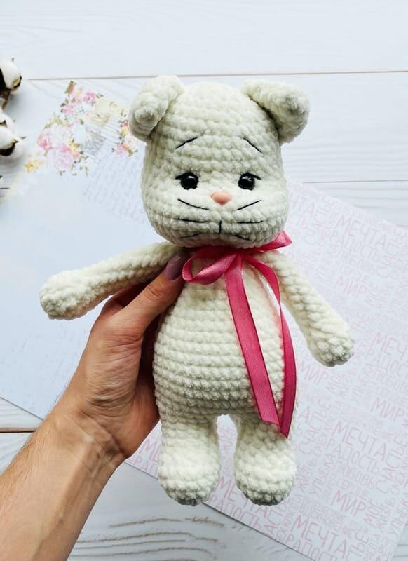 Crochet Plush Cat Amigurumi Free Pattern (3)