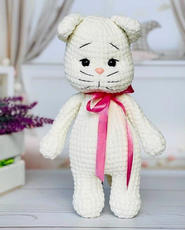 Crochet Plush Cat Amigurumi Free Pattern (4)