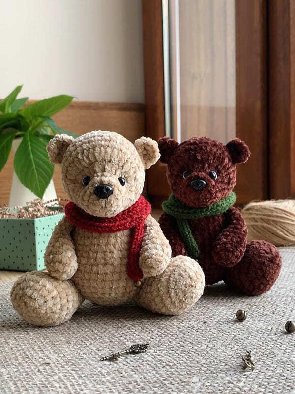 Crochet Plush Teddy Bear Amigurumi Free Pattern (1)