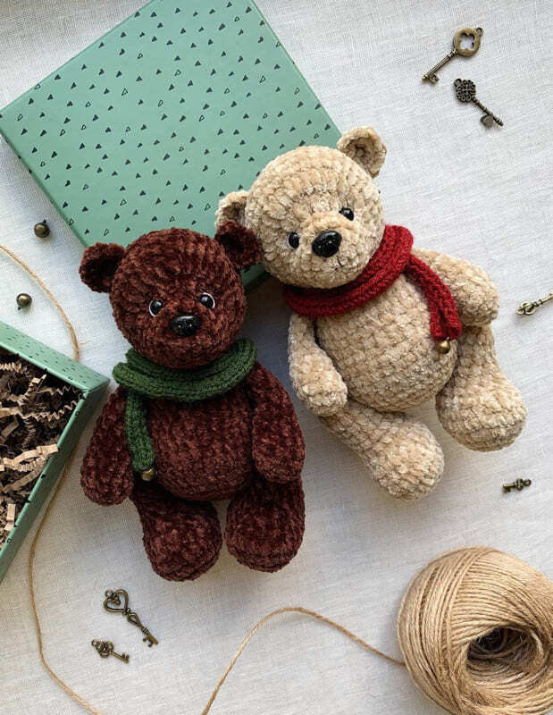 Crochet Plush Teddy Bear Amigurumi Free Pattern (4)