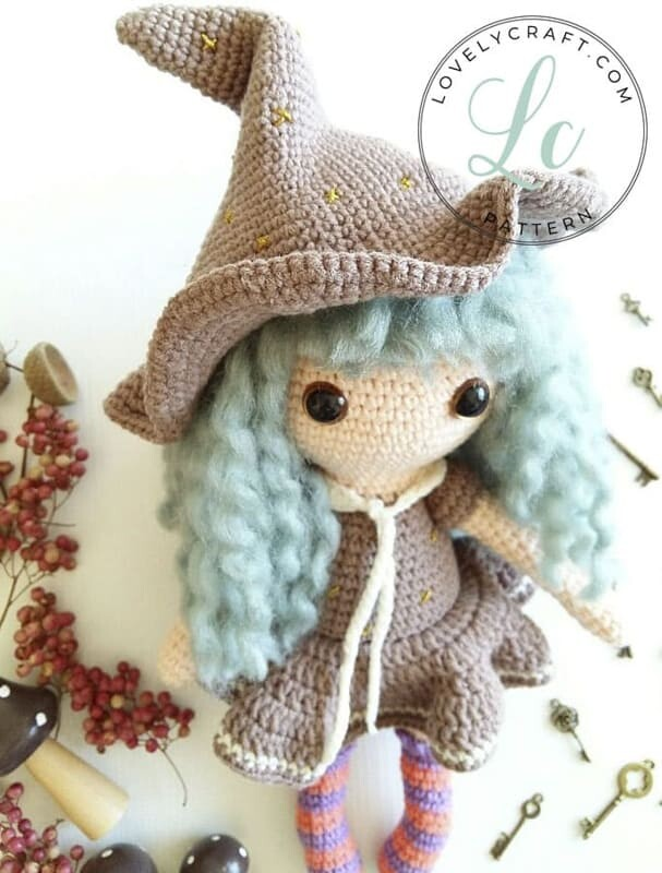 Crochet Sabrina The Witch Amigurumi Free Pattern (2)