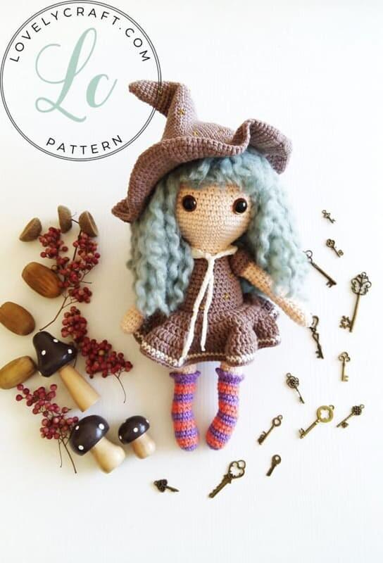 Crochet Sabrina The Witch Amigurumi Free Pattern (5)