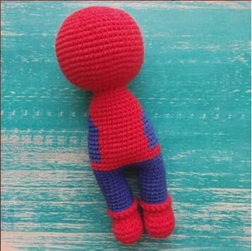 Crochet Spiderman PDF Amigurumi Free Pattern body and head