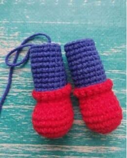 Crochet Spiderman PDF Amigurumi Free Pattern legs