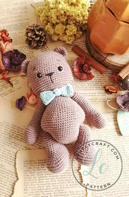 Crochet Teddy Bear Bubsy Amigurumi Pattern without hat