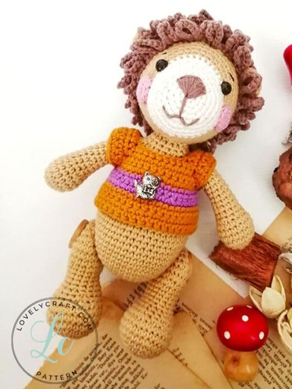 Lion Benroy Amigurumi Crochet Pattern (3)
