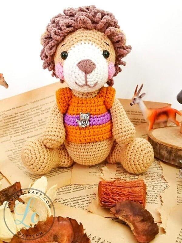 Lion Benroy Amigurumi Crochet Pattern