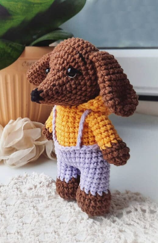 Little Dachshund Crochet Dog Amigurumi Pattern (4)