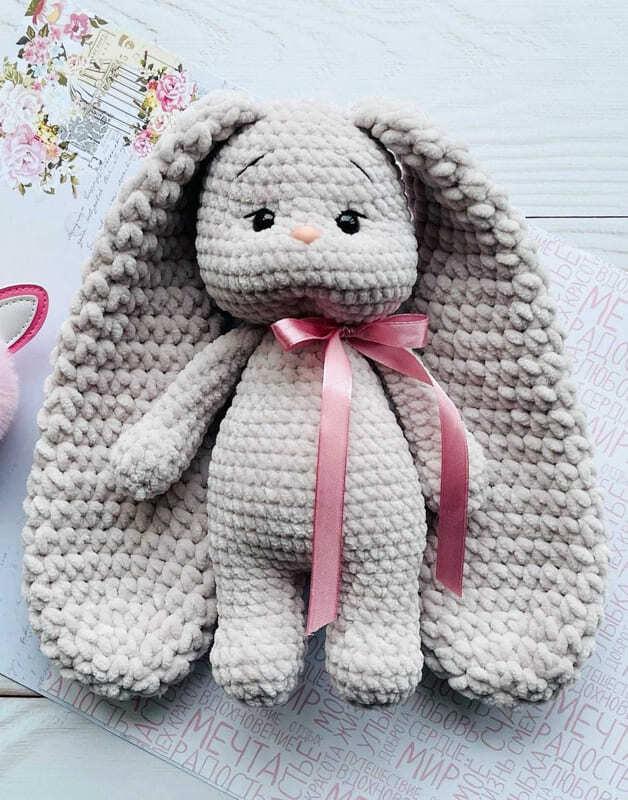 Plush Crochet Velvet Bunny Amigurumi Free Pattern (2)