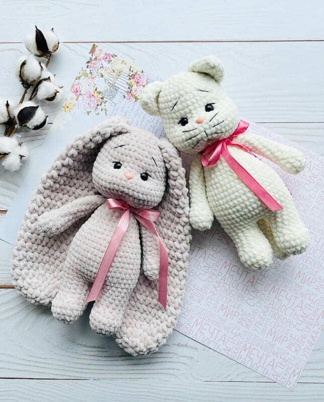 Plush Crochet Velvet Bunny Amigurumi Free Pattern (3)
