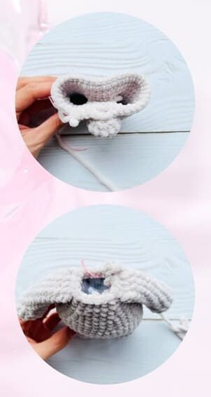 Plush Crochet Velvet Bunny Amigurumi Free Pattern body